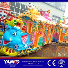 Attractive entertainment games theme park rides electric train/ amusement machine for sale