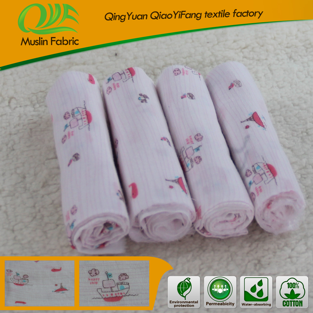 100% cotton any colored muslin fabric