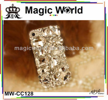 Custom bling 3d phone covers,crystal case for iphone 4