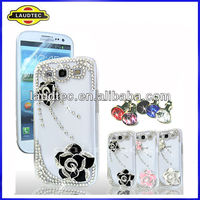 FOR SAMSUNG i9300 GALAXY S 3 LUXURY 3D CRYSTAL DIAMOND BLING CASE DIAMANTE COVER----LAUDTEC