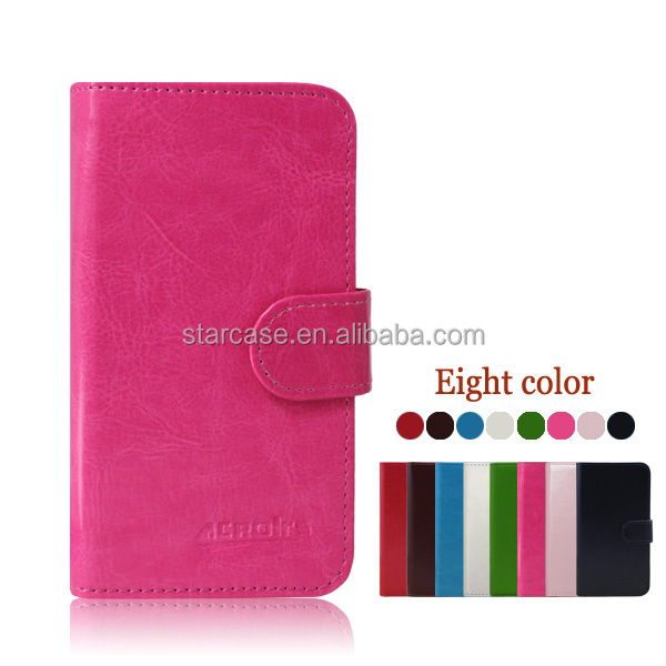Small MOQ Wholesale High Quality Stand Wallet Leather Flip Case Cover for LG Optimus Hub E510