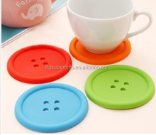 Silicone Button Coaster Drinks Cup Pad Tea Coffee Mat Placemat