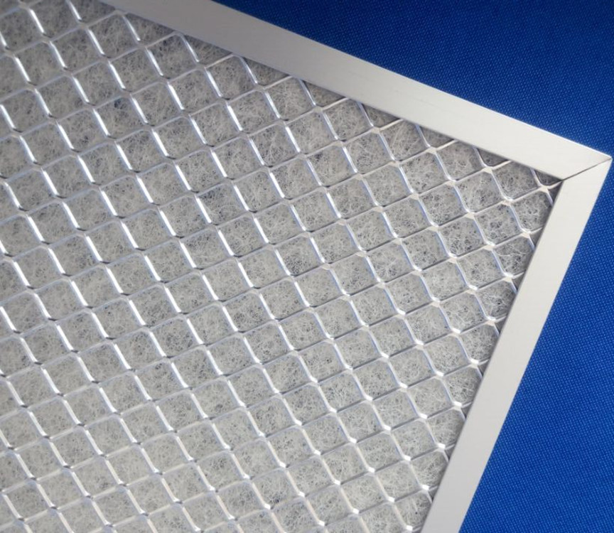Metal frame panel exhaust air filter