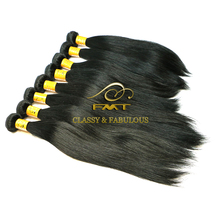 2016 FMT Best Selling 8A Grade 1B Natural Color Straight Wave Brazilian Ladies Human Hair
