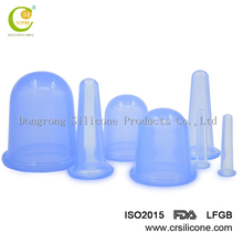 Home Use Chinese Traditional Crystal Medical Cupping Kangzhu Cupping Kit Therapy Silicone Suction Vacuum Cups Massage Set