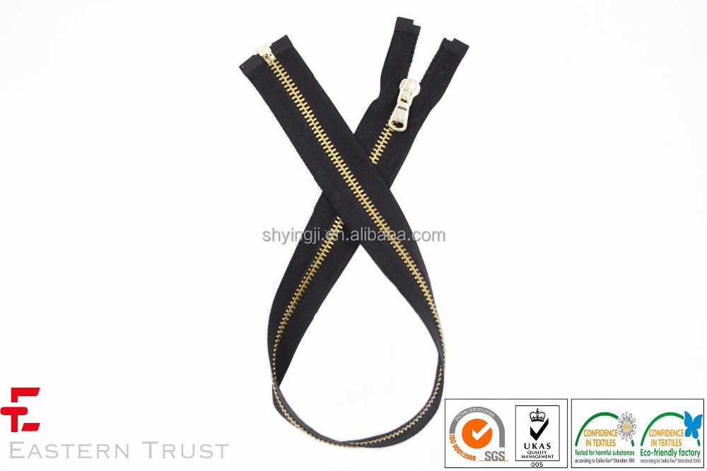High Quality for Brass Stainless Steel Metal Zipper