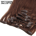 2017 Hot Selling Direct Factory Wholesale 120G 140G 160G 180G Customized Double Drawn Thick Ends Remy Clip In Hair Extension