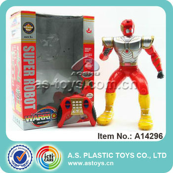 Wholesale battery operated cool funny toy plastic rc super robot for kids gift
