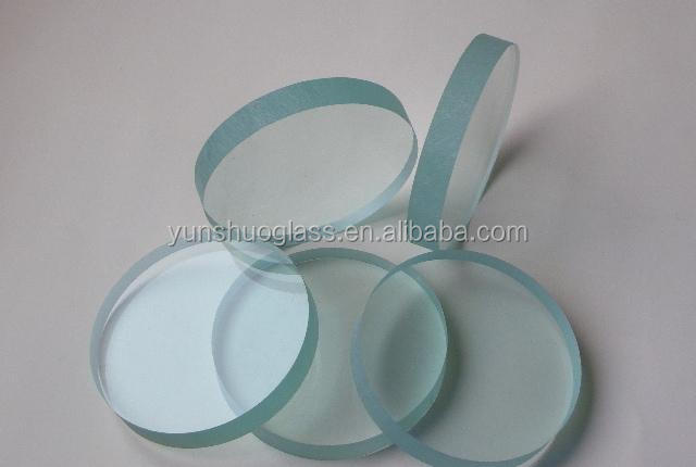 clear round glass for medical packing uses