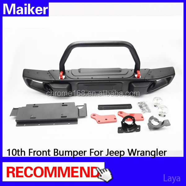 new model 10th anniversary front bumper with u bull bar for jeep wrangler jk off road from maiker