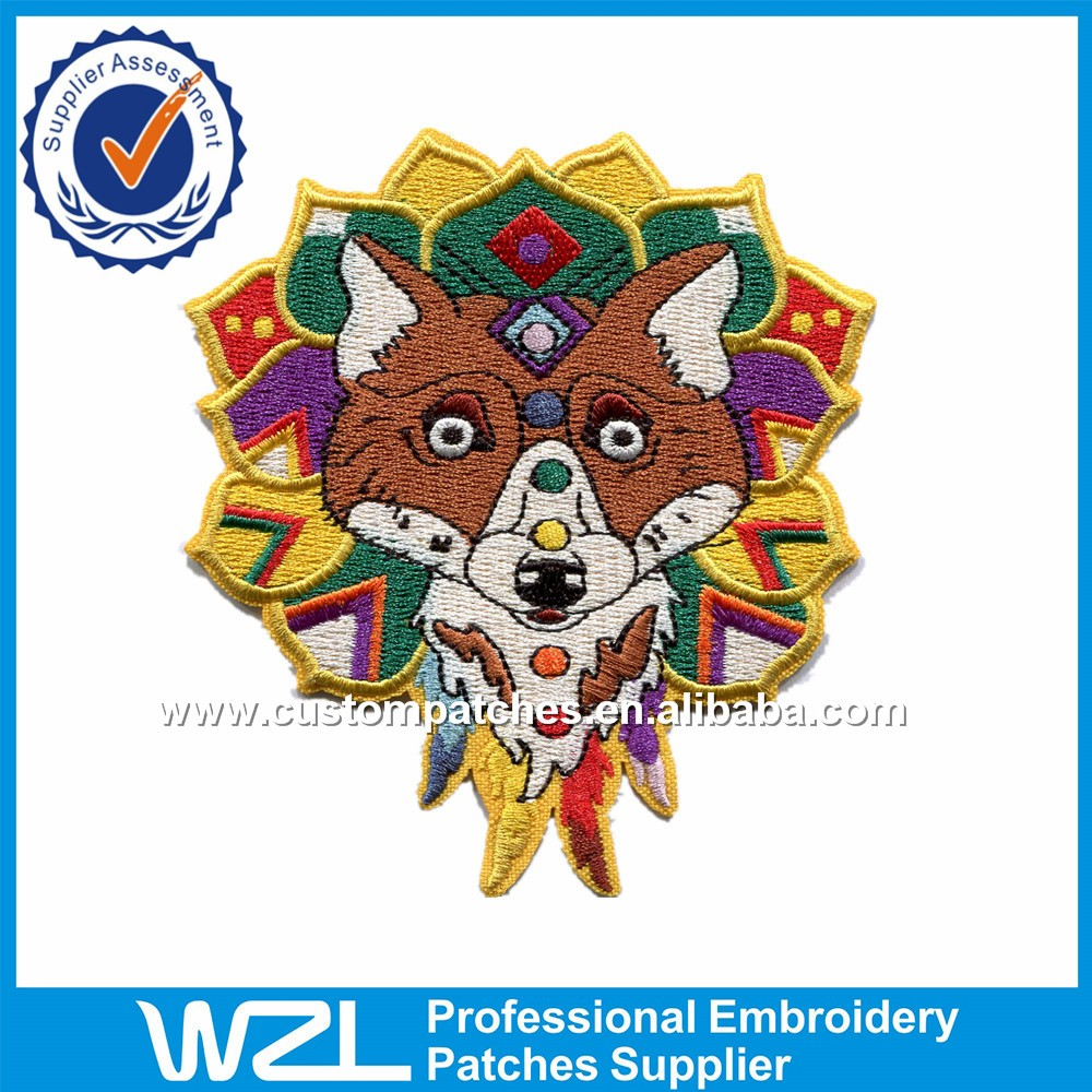 Multicolored Custom Large Iron On Embroidered Patches For Sale - Buy Embroidered PatchesIron On ...