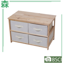 Yasen Houseware Living Room Furniture Nature 4/5/6 Drawers Chest Flat Pack Wide Drawer Chest