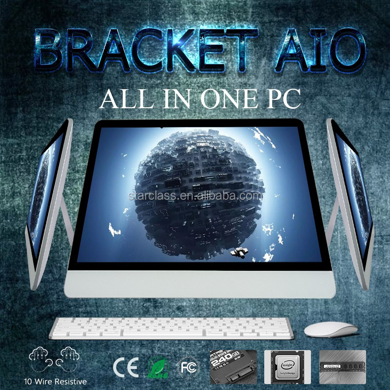 Best Quality All in one PC 27inch Intel Core g3900 4GB RAM 500GB win 7 x86 single board computer