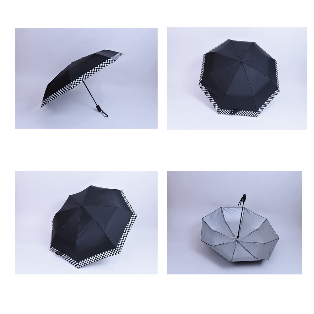 Chinese wind printing with 8k pocket-size of 3 folding umbrella