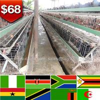 African poultry house design battery cage system for chicken farm