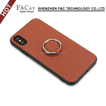 new arrivals 2018 waterproof smartphone cases accessories  for iphone x fabric ultra slim case with ring