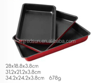 B9004 non stick carbon steel bakeware tray set
