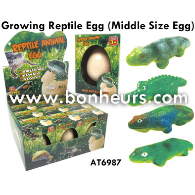 2016 Novelty Toy 5.3*7CM Growing Reptile Egg