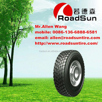 Roadsun brand wholesale roadlux quality truck tire 11r 22.5 and 315 80 r 22.5 and 385/65R22.5 currently for hot sales