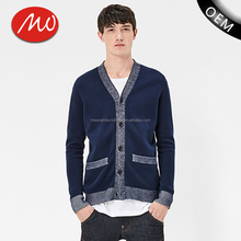 Basic button up thin knitted sweater v neck cardigan men with best quality