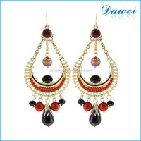 fashion bohemian style vintage ethnic style female seed bead earrings