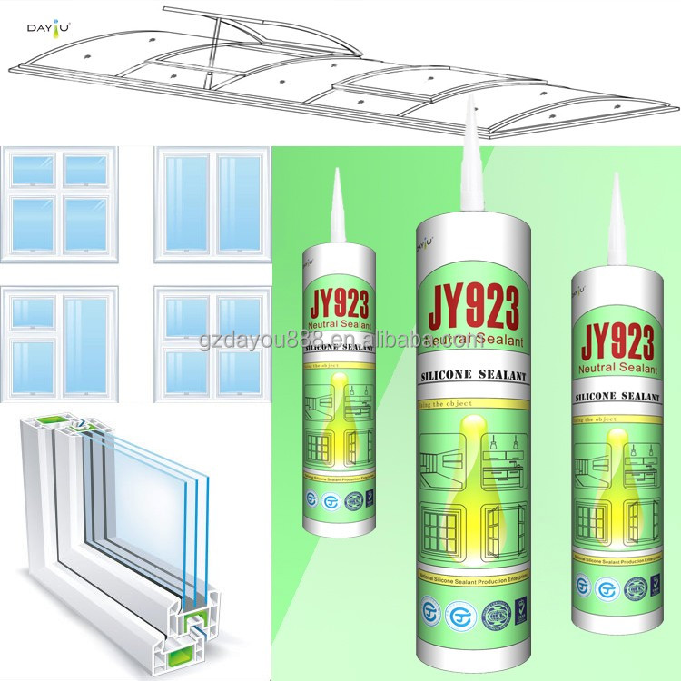 colored multi purpose silicone sealant UV removing silicone glue