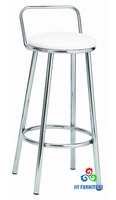 Sturdy chrome metal bar stool bar pub counter height stool supplier