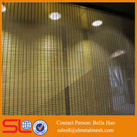 Copper wire mesh Brass wire mesh decorative metal curtain