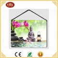 Hanging Budda Canvas Painting with Led Light For SPA decoration