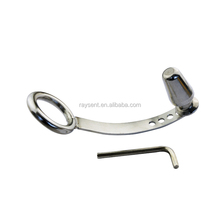 Stainless Steel Metal Male Anal Hook with Penis Ring Anal Plug A016