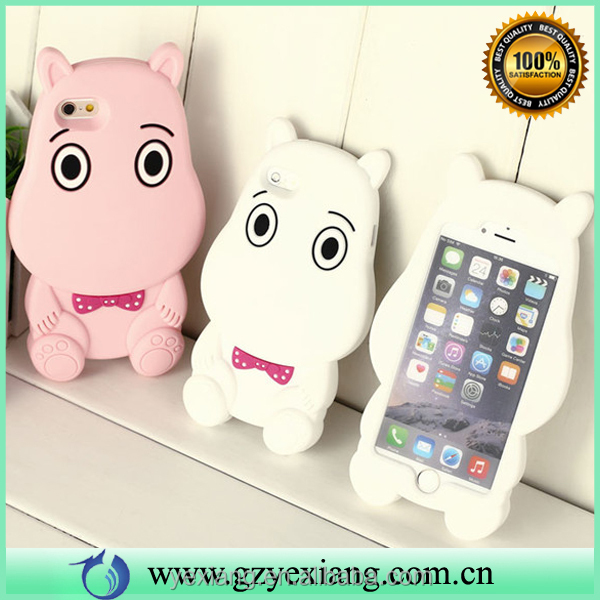 China supplier cute animal silicone phone case for iphone se case silicone protective phone cover