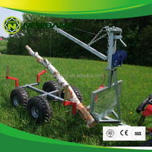 ATV wood trailer with crane