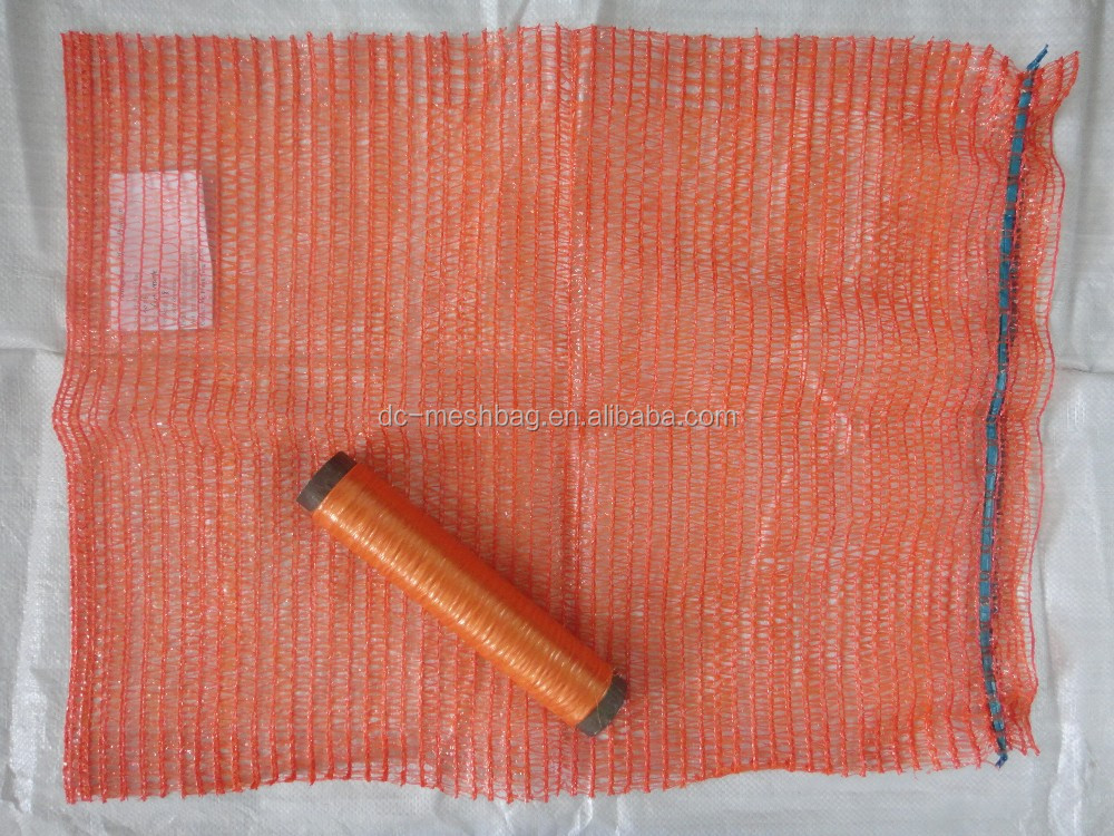 ORANGE 20KG 40x63 Raschel PE mesh bag for potato