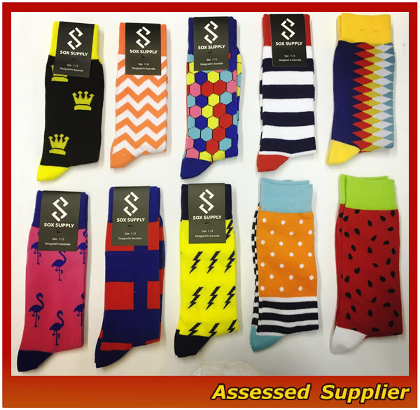 High Quality OEM Services Men Custom Colorful Combed Cotton Dress Socks, Cotton Business Crew Socks, Happy Funny Socks--ZP00133