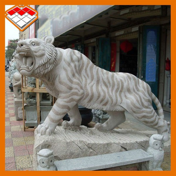 Outdoor garden granite stone animal tiger sculpture for sale in China