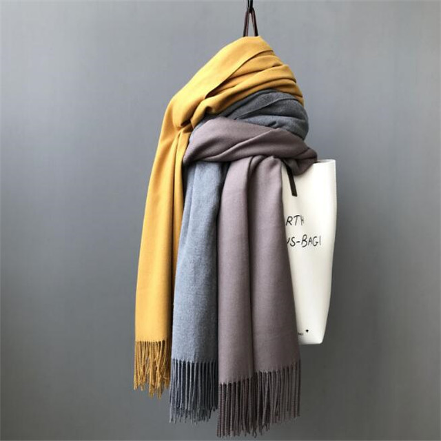 2017 women's cashmere scarf, solid color warm shawl scarf(SWTMD3115)
