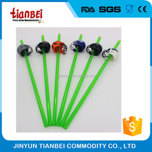 Large PET drinking straws with football helmet