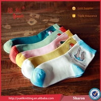 Young lady five color cotton without spandex foot wool tube sock