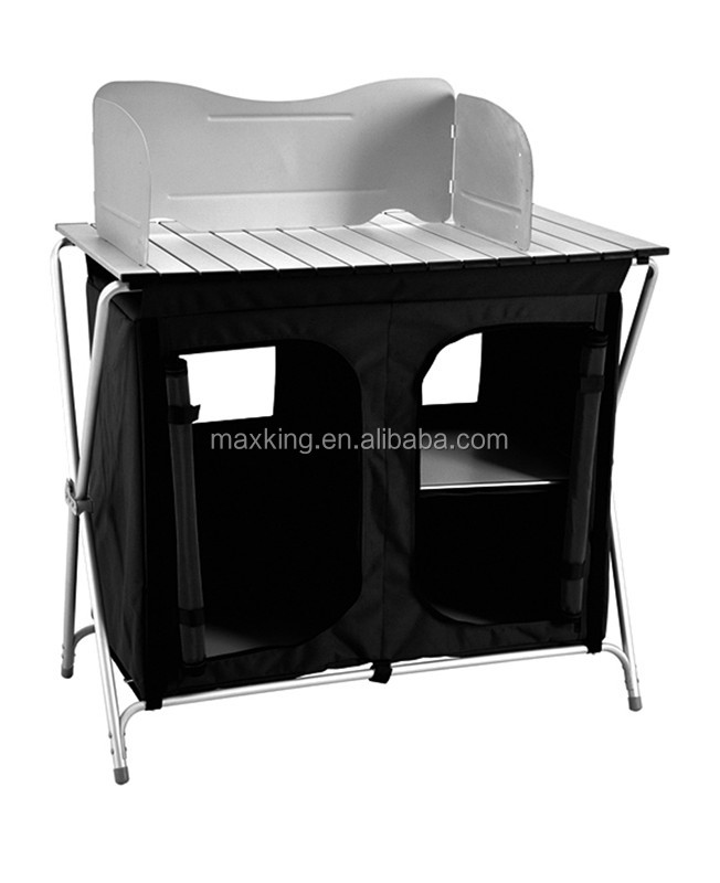 Multi-function Aluminum Folding Table With Cloth Cabinet,Camping cupboard,camping cabinet