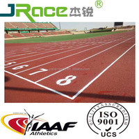 Prefabricated 13mm long lifespan rubber running track