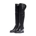 Hot selling high quality italian genuine leather new design fashion ladies winter women wedge long boots