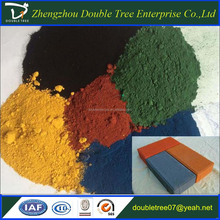concrete used iron oxide pigments colours red/yellow/brown/black China manufacturer