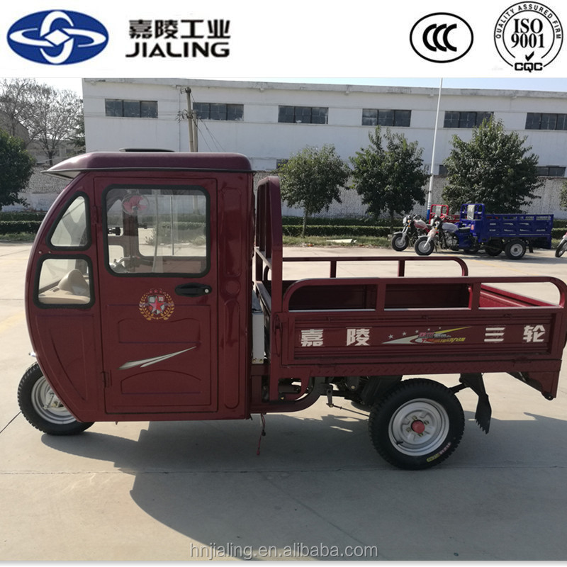 Economic drum brake diesel engine chopper trike with container