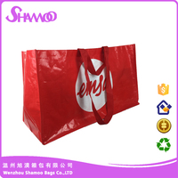 glossy laminated pp woven grocery bag for shopping