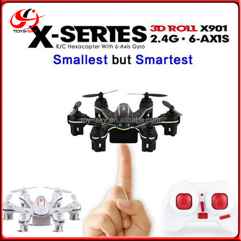 MJX X901 Mini Drones with 2.4GHz 6 Axis Gyro 3D Roll Stumbling Function sky king mini drone heli controller
