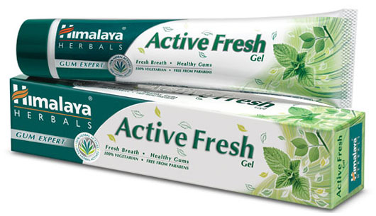 Himalaya's Active Fresh toothpaste Gel packed with refreshing herbal ingredients