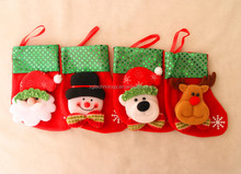 2015 wholesale mini Santa Claus christmas stockings Holders Christmas Tree Decorations