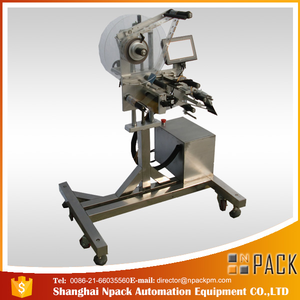Automatic plain top bag labeling machine
