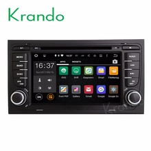 Krando Android 7.1 car dvd player for audi a4 2002-2008 radio gps navigation multimedia system WIFI 3G Playstore DAB+ KD-AD714