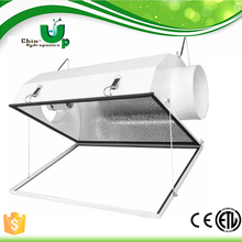 Smart hydroponics air cooled aluminum grow light reflector/compact double ended reflector/Air Cooled de Grow Light Reflector